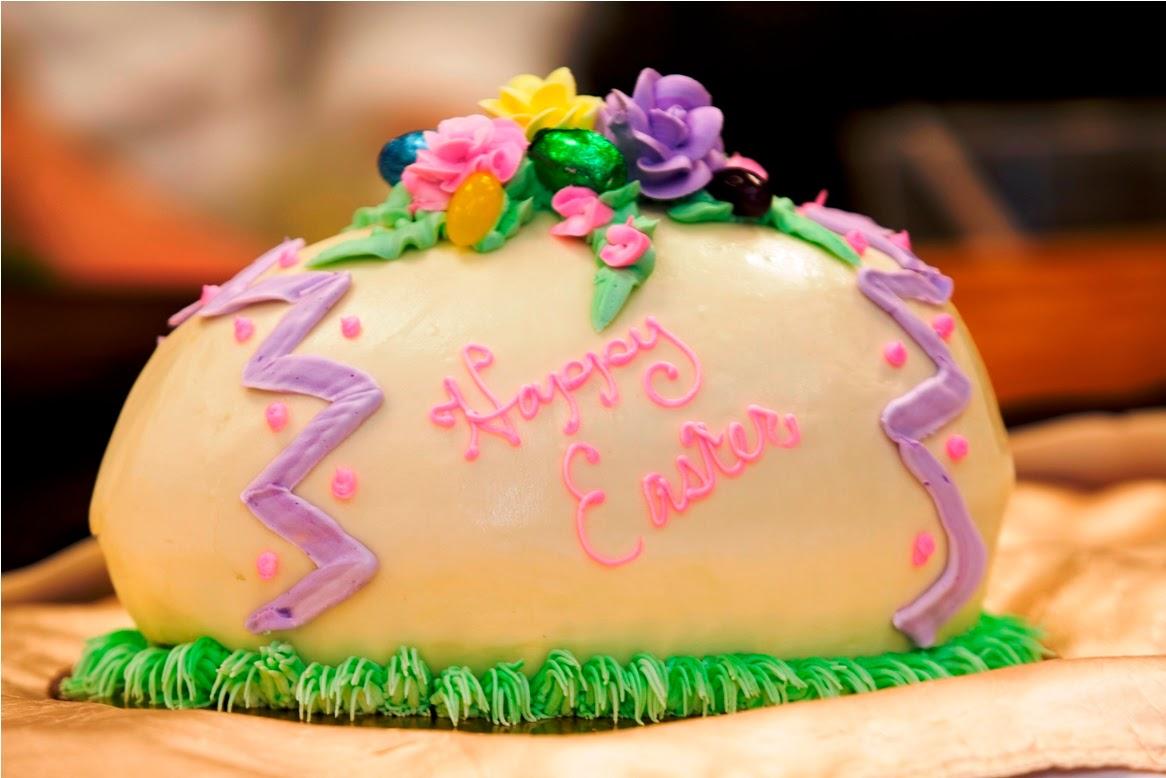 Giant Egg Easter Cake recipe